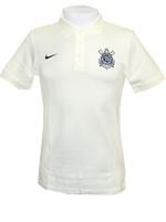 Camisa Polo Core 2014 Corinthians Nike Bege