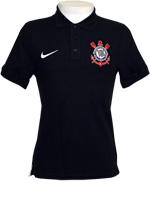 Camisa Polo Matchup Corinthians Nike Preta