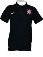 Camisa Polo Core Corinthians Nike Preta