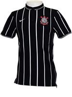 Camisa Polo League Corinthians Nike Preta e Branca