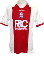 Camisa Birmingham City - Jogo 2- Branca e Vermelho