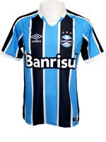 Camisa de Jogo 1 Grêmio 2016 Umbro Listrada