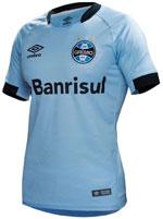 Camisa de Jogo 2 Grêmio 2017 Umbro Azul N10