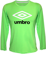 Camisa Manga Longa Juvenil UV Umbro Basic Verde
