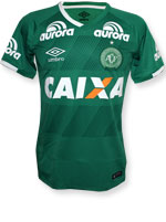 Camisa de Jogo 1 Chapecoense 2016 Umbro Verde S/N