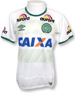 Camisa de Jogo 2 Chapecoense 2016 Umbro Branca S/N