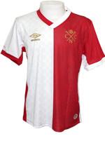 Camisa Jogo 3 Náutico 2015 Umbro Branca e Vermelha