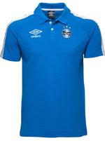 Camisa Polo Viagem Grêmio Umbro 2017 Azul
