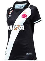 Camisa de Jogo 1 Feminina Vasco 2017 Umbro Preta