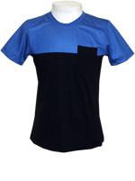 Camisa UziPapa Tee Preta e Azul