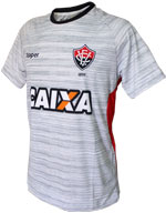 Camisa Treino Atleta Vitória 2017 Topper Cinza