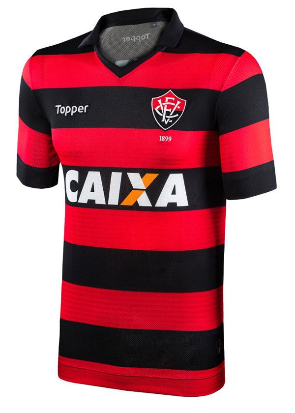 Camisa de Jogo 1 Vitória 2017 Topper Listrada S N 74cf6e269e451