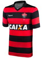 Camisa de Jogo 1 Vitória 2017 Topper Listrada