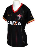 Camisa Feminina 3 Vit�ria 2014 Puma Preta