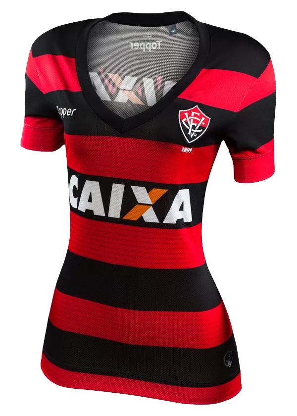 34eb3e7276 Camisa Jogo 1 Feminina Vitória Topper 2017 List