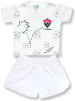 Pijama Curto Infantil Torcida Baby Vitória