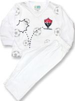 Pijama Longo para bebê Torcida Baby Vitória