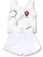 Pijama Regata para bebê Torcida Baby Vitória