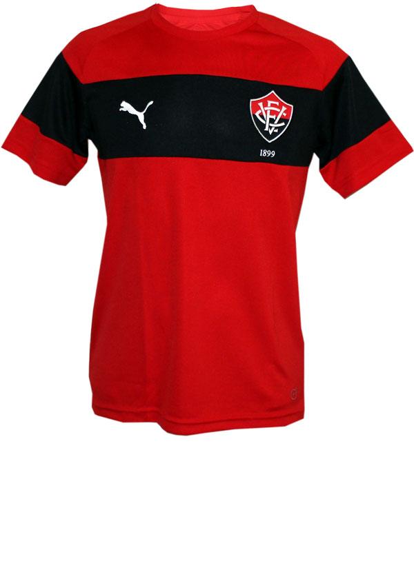 Camisa Treino Vitória 2016 Puma Vermelho e Preto 697447b325d28